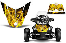 Can Am BRP RTS Spyder Roadster Hood Graphic Kit Decal Sticker Wrap 10-11 ICE YLW