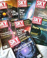 7 Lot SKY & TELESCOPE Magazines 1997 & 1998 Other Worlds, Astronomy, Star Gazing