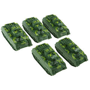 5x Army Green   Tank Model for Sand Table Armor Scene Building Accs