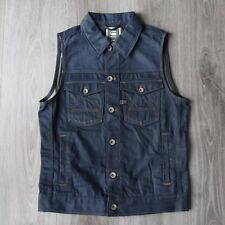 New Mens G-Star RAW A Crotch 3D Slim Sleeveless Blue Denim Jacket Vest M G Star