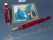 NOS* Montblanc Meisterstuck 114R Mozart Fountain Pen Bordeaux Red/Gold 14K M Nib