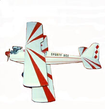 Sporty Ace Biplane Plans, Templates and Instructions 47ws