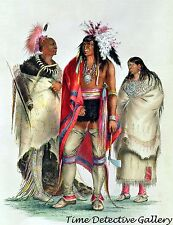 North American Indians by George Catlin -1832- Native American Art Print