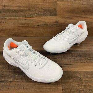 Nike Alpha Huarache Elite Low AJ6873-111 Metal Baseball Cleats Triple White 9