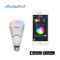 Shelly WiFi Smart Bulb E27 Dimmable Multicolored Switch Light RGBW Changing App