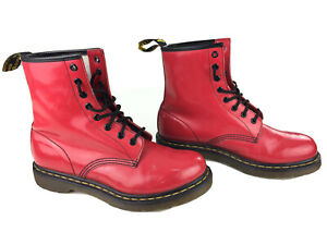 Dr. Martens Doc's Red Womens US Sz 9 1460 AirWair Combat Boots Hipster Bright