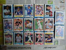 255 MLB Baseball Cards Fleer 1990 + 5 Logo Sticker