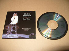 Barbra Streisand One Voice 13 track Early Press cd 1987 Excellent Condition