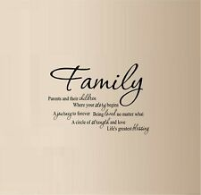 """Family - Meaning Vinyl Decal Home Décor 12"""" x 17"""""""