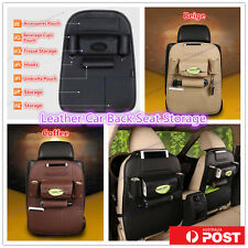 Leather Car Back Seat Bag Storage iPad Phone Holder Pocket Travel Organizer