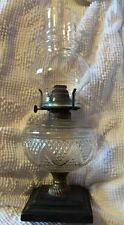 Antique Victor - E. Miller Co. Oil Lamp Made in U.S.A. Cast Iron & Brass Base