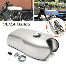 Steel 9L/2.4 Gal Universal Custom Cafe Racer Gas Fuel Tank Fit for Honda Yamaha