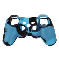 Custodia protettiva copertura controller Silicon per PS3 copertina blu-nero A6T6