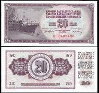 YUGOSLAVIA 20 Dinara, 1974, P-85, Cargo Ship/Seaport, UNC World Currency