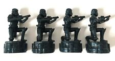 2005 STAR WARS SAGA EDITION Chess Pieces, 4 Stormtroopers Black