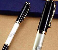 Original Jinhao lujo rollerball rollerball White Pen bolígrafo 18 KGP + estuche nuevo