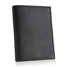 Brieftasche BETLEWSKI, Ledergeldbörse, Männer, Geldbeutel, Naturleder, schwarz