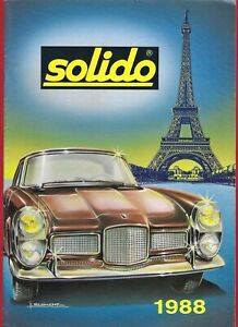 Solido Catalogue 1988 ~ Diecast Model Cars & Vehicles - French A4 Trade Edition