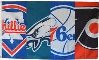 Philadelphia Eagles 76ers Flyers Phillies Flag 3x5 ft Sports Banner