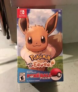 Pokémon Let's Go Eevee Poké Ball Plus Bundle Nintendo Switch Sealed