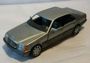 Mercedes MB W140 600SEL V12 500SEL V8 420SEL S-Klasse Silber Schabak  1:43