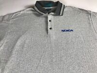 Nokia Polo Shirt VTG Mens XL Tall Long Powertel USA Made Golf Casual Cotton Guys