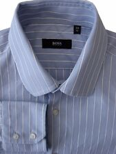 HUGO BOSS Shirt Mens 15 S Blue - White Stripes