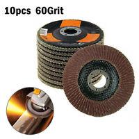 10 Pcs 115mm 4-1/2 Inches Auto Body Sanding Flap Discs Wheel 60 Grit Alumina