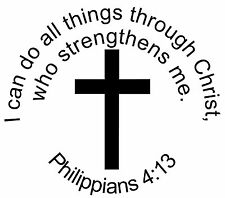 Philippians 4:13 Do All Things w/Christ  Religious Wall Window Car Decal Bible