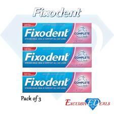 3 x Fixodent Cream Complete Strong Hold Adhesive Denture Cream Original 47g