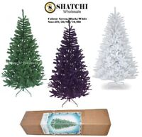 Artificial Christmas Tree Green Black White Xmas Tree Home Decorations 4FT-8FT