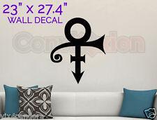 "Prince Symbol Wall Decal Removable BLACK Vinyl Purple Rain Fan 23"" x 27.4"" Large"