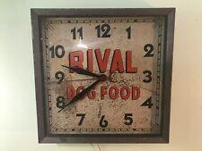 1930s RIVAL DOG FOOD wall CLOCK PROJECT RARE