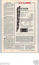 1962 PAPER AD Head Snow Skis Meier & Frank Co Vector Competition