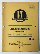 Allis-Chalmers D21 D-21 Series II Two-Ten Two-Twenty Tractor Shop Service Manual
