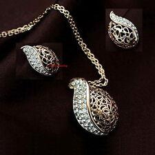 Women Fashion Made with Swarovski Crystal Antique Filigree Teardrop Set XS27