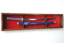 Single Sword & Scabbard Cabinet Display Case Wall Rack Holder