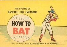 FINER POINTS OF BASEBALL HOW TO BAT RARE MINI COMIC NM GIVEAWAY PROMO