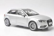 Audi A3 sportback car model in scale 1:18 silver