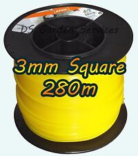 280m of Genuine STIHL 3mm SQUARE Brushcutter Strimmer Trimmer Cord Line Wire