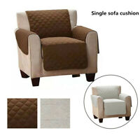 Single Seat Quilted Polyester Sofa Couch Cover Pad Chair Throw Pet Dog Kids Mat