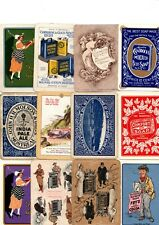 """12 x WIDE RARE VINTAGE """"Advertising"""" SINGLE Playing Cards"""