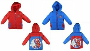 Boys Marvel Spiderman Puffer Winter Jacket 2 to 8 Years | Available in 2 colours