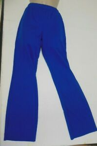 Royal Blue Stretch Pants Polyester Pique Costume Theatrical Child sizes Dance