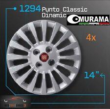 4 Original MURAMA 1294 Radkappen für 14 Zoll Felgen FIAT PUNTO CLASSIC DINAMIC