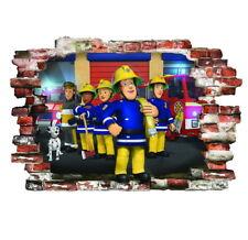 Feuerwehrmann Sam wandtattoo FIREMAN SAM Wandaufkleber wall stickers 57cm X 80cm