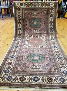 "Beautiful Vintage 1950-1960sNatural Dyes Wool Pile Rug from Cappadocia 3'3""x6'2"""