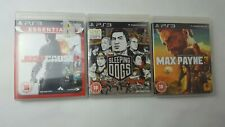 PS3 Game Bundle JUST CAUSE 2, SLEEPING DOGS, MAX PAYNE 3