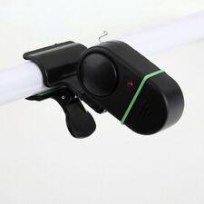 Electronic LED Light Fish Bite Sound Alarm Bell Clip On Fishing Rod Black Easy