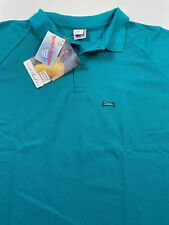 Nwt Vintage Le Tigre Polo Shirt Endorsed by Wilt Chamberlain Teal Green Mens 3X